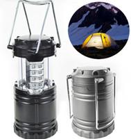 Светодиодный кемпинг лампа открытый складной фонарь аварийные фонари портативный черный складной для походов кемпинг Хэллоуин Рождество LLFA