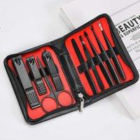 1set = 9pcsHot Vendita Nail Tool Set in acciaio inox Toes Nail Clippers regolatore della cuticola taglierina del chiodo Scissor Manicure