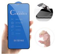 Cerâmica Protetor de Tela macia Film 9H cobertura total para o iPhone 11 pro Max XS XR X 8 7 6 Plus Não vidro temperado