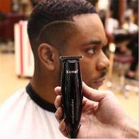 Profesyonel elektrikli tak ve çalıştır saç kesimi kaygan geri berber makası yazı styling saç düzeltici kesici makinesi saç