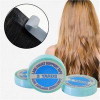 3 yardas 1pc extraordinariamente impermeable cinta adhesiva doble a prueba de agua para la trama de la piel Cintas de extensión de cabello Peluca de peluca 300 cm de alta calidad