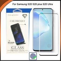 3D Eğimli kenar temperli cam Ekran Koruyucu için Samsung Note 20 Ultra S20 / S20 artı / S20 Ultra / S10plus / S10 litre / S10 5G / Note10