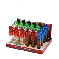 24 teile / los 53mm / 67mm / 82mm acryl Kunststoff Schnupftabak Flasche Schnupftabak Snorter Dispenser Nasal Rauchen Pfeife Glas Pille Flasche Fall Aufbewahrung