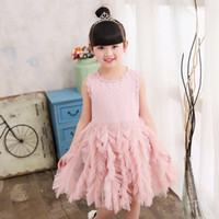 2019 Girls clothing Lace tutu Dress Sleeveless Cute embroide...