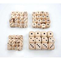 Горячие продажи 16 мм деревянные кости разноцветные круглый угол лесистые кубики играть семейные игры партия игрушки декоративные кости подарок 6 двусторонняя кости