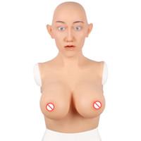 كأس E واقعية سيليكون أنثى الوجه وهمية مصطنعة أشكال سيليكون الثدي لجميع القديسين كروسدرسر] المتحولين جنسيا خنثى Dragequeen