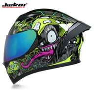 سباق خوذة رجل المرأة casco capacete كامل الوجه دراجة نارية خوذة motorcross خوذات عدسة مزدوجة مع القرن الشخصية