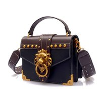 good qualityFashion Metal Lion Head Square Pack Shoulder Bag...