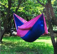 Doppel Person Hammock Top-Qualität Tragbare Nylon-Fallschirm-Kinderbett Outdoor-Camping-Tresor Outdoor Gear Ravel Hammock Schlafsack LXL104-A