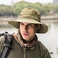새로운 남자 양동이 모자 Boonie 사냥 낚시 모자 야외 넓은 모자 군대 유니섹스 태양 모자
