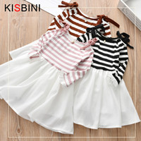 good quality 2019 New Girls Dress Bow Long- Sleeved Princess ...