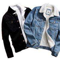 뜨거운 판매 남성 자켓 및 코트 유행 따뜻한 양털 데님 자켓 겨울 패션 남성 진 착실히 보내다 남성 카우보이