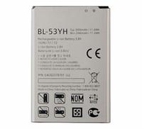 10 adet 3000 mAh Yedek Pil LG G3 Için BL-53YH F400 F400K F460 F470 D830 D850 VS985 D850 D851 D852 D855 D857 D858 D859 LS990
