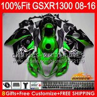 Впрыск для SUZUKI Hayabusa GSXR1300 08 2008 2018 GSXR 1300 25NO.88 GSXR-1300 08 09 10 11 12 13 14 зеленый черный 15 16 17 18 OEM обтекатели