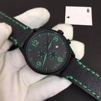 Toptan Chrono XL T-Sport T116 Chronograph Kuvars Japonya Yeşil Deri Kayış Dağıtım toka Erkekler Izle Kol Saatleri Erkek Saatler