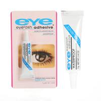 TOP QUALITY!STOCK Beauty Makeup Clear White Black Waterproof False Eyelashes Makeup Adhesive Eye Lash Glue 7g free shipping