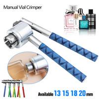 Yeni Manuel Parfüm Crimper 13mm 15mm 18mm 20mm Parfüm Sprey Şişe Sızdırmazlık Makinesi Kap Capper Şişe Kapağı Sıkma Kapaklama Araçları