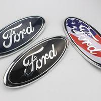 Подходит для Ford Logo 9 дюймов передний капот капота эмблема значок и задний ствол наклейки F150 F250 Explorer Auto logo DHL бесплатная доставка