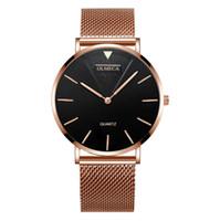 0859 Ultra dunne roos goud vrouw luxe horloges verpleegkundige dames vrouwelijke opvouwbare gesp polshorloge geschenken voor meisjes