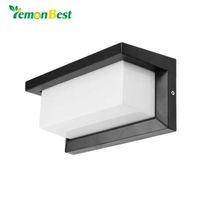LemonBest 15W iluminación exterior a prueba de agua Lámparas de pared modernas LED IP65 Aluminio Patio Jardín Corredor Porche Luces AC85-265V