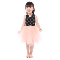 Little Girls Polka Dots Tulle Party Dress Wholesale Kids Clo...