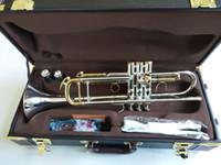 Bach Trompete Original-Silber überzogen GOLD KEY LT180S-72 Bb Professionelle Trompete Glocke Top Musikinstrumente Messing