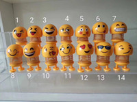 Xiaohuang Ren Primavera Sonrisa Cara Paquete de expresión Sacudir la cabeza Tipo de expresión Arreglo Vehículo Juguetes de descompresión interesantes