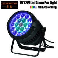 El control individual de color freeshipping 19x12W RGBW 4IN1 de Led zoom luz de la igualdad 10-50 Grado luz ajustable de alta potencia de la lámpara Osram
