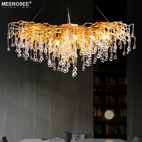 2019 Luxurious Crystal Pendant Light Modern Popular Gold Col...