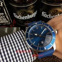 2020 top para hombre mecánicos automáticos del reloj correa de silicona línea azul de 5 ATM impermeable luminosa puntero orologio di Lusso
