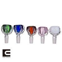 Ciotola di vetro colorato di artiglio del drago / supporto dell erba con giunto maschio da 19 mm per i tubi dell'acqua di Bongs di vetro