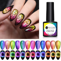 7.5ml UR SUCRE 9D Galaxy Cat Eye Gel Nail magnétique Soak Off UV LED Vernis à ongles semi manucure permanente Laque Gel