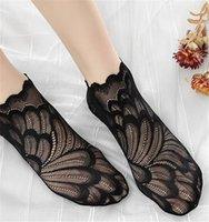 Sıska Ayak bileği uzunluğu Nefes Çorap Çiçek Bayanlar Kısa Çorap Moda Kadın Dantel Saf Renk Giyim Womens Baskı