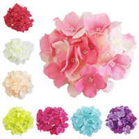50Pcs 14Colors Artificial Silk Hydrangea Flower Head With St...