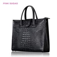 sacs à main concepteur rose sacs à main de femmes sac à bandoulière sacs fourre-tout BRW motif crocodile véritable sac à main en cuir de gros 7colors sac à main