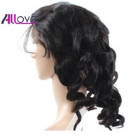 180% Density Natural Hairline Full Lace Wigs Cheap 8A Brazil...