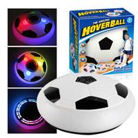 28 CM Date Air Puissance Soccer Disc Volant Volant Ball Flottant Led Football Jouet de Football Enfants Cadeau dropshipping