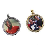Collar de Hip Hop heló hacia fuera imagen personalizados pendiente con la cadena de la cuerda del encanto de la joyería de Bling Para Hombres Mujeres