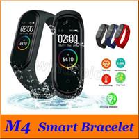 M4 fitness intelligente Bracciale IP67 impermeabile cardiofrequenzimetro sonno Braccialetti monitoraggio SmartWatch colori staccabili 50pcs a buon mercato