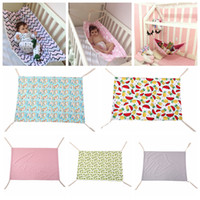 7Styles Newborn Crib Младенческая гамака Baby Changmat Напечатанная Путешествия Портативный Детские Спящие кровать Съемный Басиновый Кроватовый Гамак 100 * 70см FFA2864