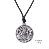 Searohse Totem Beatance Ожерелье Старинные Серебряные Кулонные Ювелирные Изделия Мужской Ирландский Амулет Символы Ожерелье