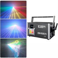 Neue RGB-ILDA-Bühnen-DJ-Laserlicht Multi Color 500mW / 1W / 2W / 3W / 4W / 5W RGB-Strahlanimation EMMA-Laserprojektor, Textlaser-Leuchten zum Verkauf