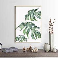 Escandinavos Plantas estilo tropical Poster folhas verdes de arte decorativa parede Imagem pinturas modernas para Living Room Home Decor
