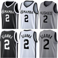 Costurado Gianna Maria Onore Jersey UConn Huskies Especiais Homenagens Colégio 2 Gigi Mamba Memorial Basketball Jerseys