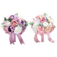 Ebedi Melek Holding Buket İpek Yapay Çiçek Düğün Kutlama Buket Malzemeleri Düğün Çiçekleri Gelin