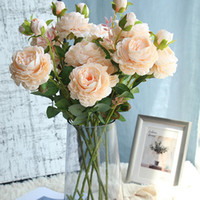 Artificial Flowers Rose 1 pc Branch Fake Flowers for Wedding...