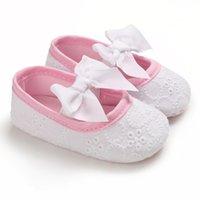Kız Bebek Ayakkabı Katı Renk Papyon Çocuklar İlk Yürüyenler Bebek Ayakkabı Düz Yumuşak Alt Prenses fazla renk SHL106