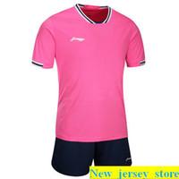 Top Kundenspezifische Fußballjerseys Freies Verschiffen-billig Großhandelsdiskont irgendein Name Jede Zahl anpassen Fußball Shirt Größe S-XL 336