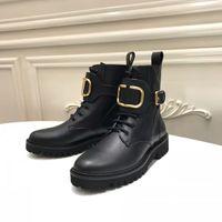 Zapatos romanos de estilo europeo clásico, zapatos de mujer, botas Martin, botas de moto con cremallera, botas sexy decoración de letras doradas