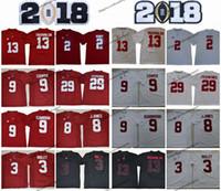 2018 Alabama Carmesim maré 13 Tua Tuavailoa 2 Henry 29 Minkah Fitzpatrick 9 Bo Scarbrough Cooper 3 Ridley 8 Jones College Football Jersey